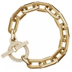 Michael Kors classic toggle bracelet yellow gold